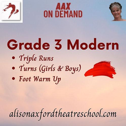 Grade 3 Modern - 4th Video