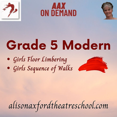 Grade 5 Modern - 2nd Video - GIRLS work
