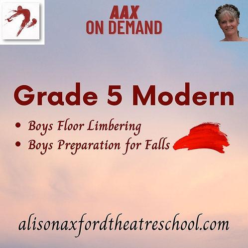 Grade 5 Modern - 3rd Video - BOYS work