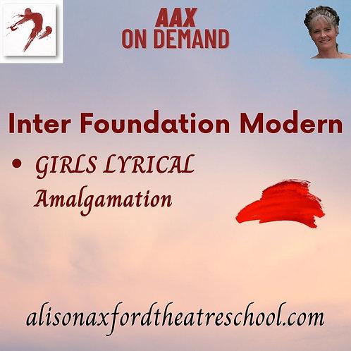 Inter Foundation Modern - 7th Video - Girls Lyrical Amalg
