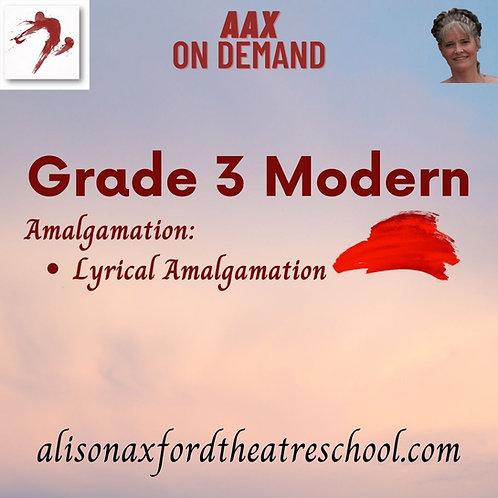 Grade 3 Modern - 7th Video - Girls Lyrical Amalgamation