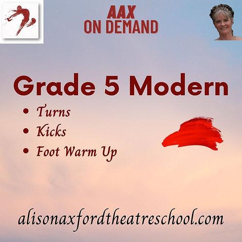 Grade 5 Modern - 5th Video