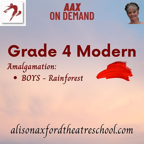 Grade 4 Modern - 9th Video - BOYS Rainforest Amalgamation