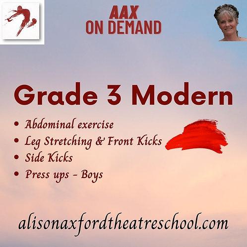 Grade 3 Modern - 2nd Video (Floorwork)