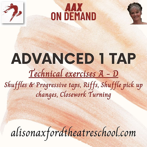Advanced 1 Tap - 2 - Technical Exercises A-D Video