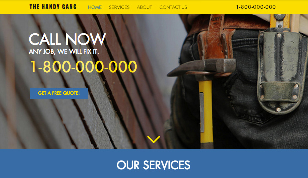 Business website templates – Handyman Service