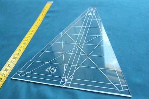 45° Ruler- KALEIDOSKOPE