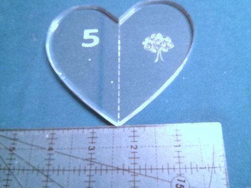 """5"""" Heart Ruler"""