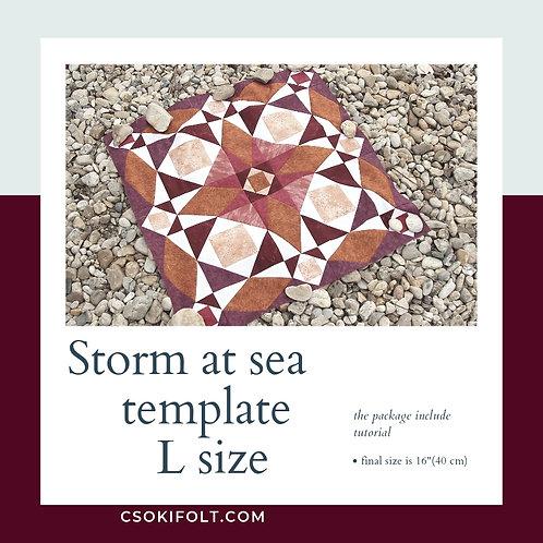 Storm at sea Size L