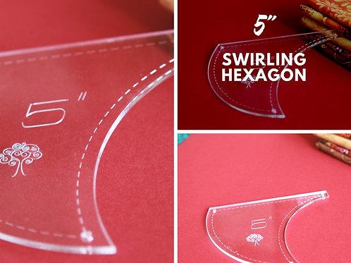 """Swirling Hexagon 5"""""""
