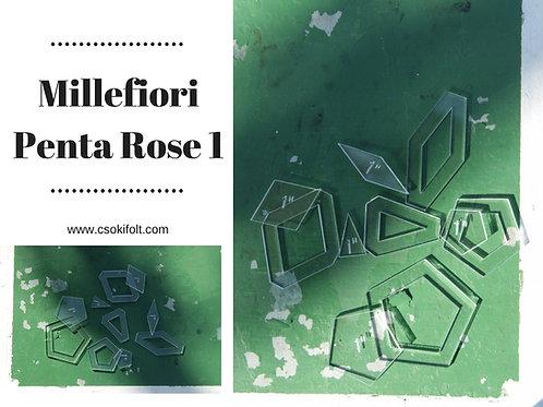 """Millefiori Penta Rose 1"""""""