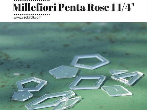 """MILLEFIORI PENTA ROSE - 1 1/4"""""""