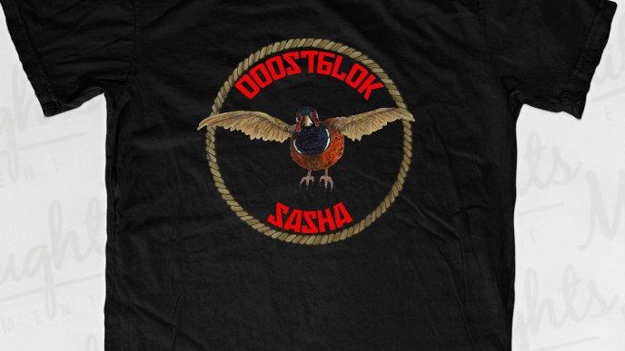 Ooostblok Sasha T-shirt Zwart