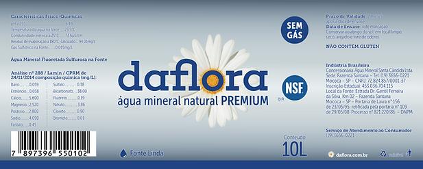 rótulo galão daflora premium 10 litros