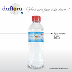 Garrafa PET Daflora 310 ml com gás
