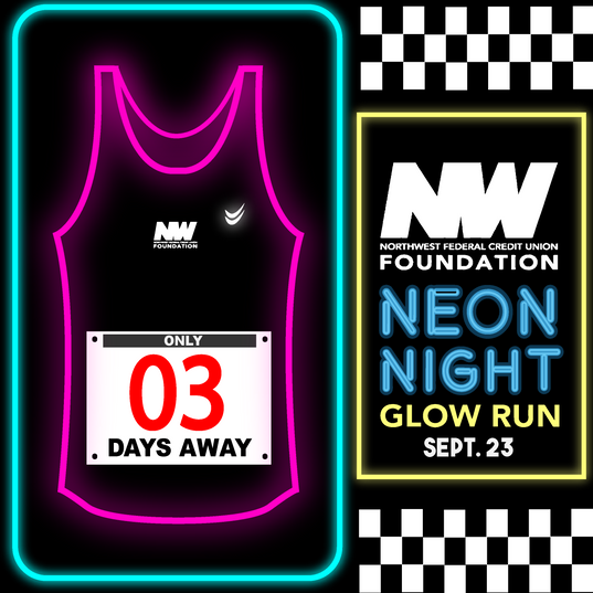 Glow Run Countdown Post