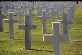 Normandy graveyard crosses