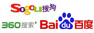 Baidu, Sogou, 360 are Chinese search engine plafom provders. The image introduces Chinese search engines, China advertising, China PPC, Baidu advertisn features