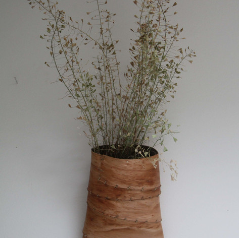 Willow Bark Wall Basket £40