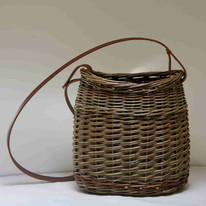 Oval leather handle £60