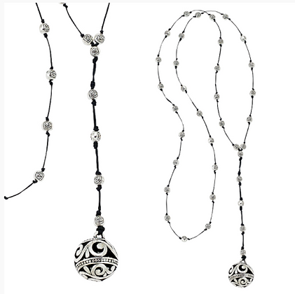 Scroll Ball Necklace