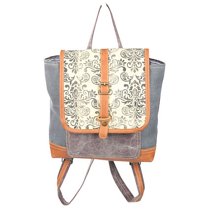 Clea Ray Mixed Fabric Backpack