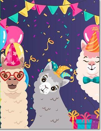 Alpaca Grams Birthday Card
