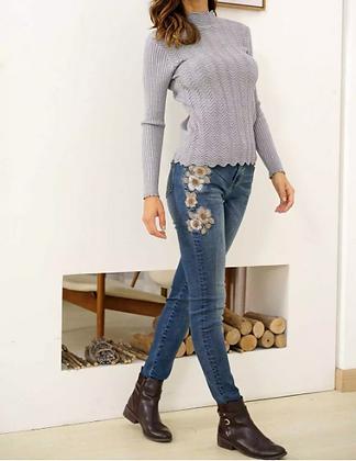 Peyton Floral Distressed Jeans