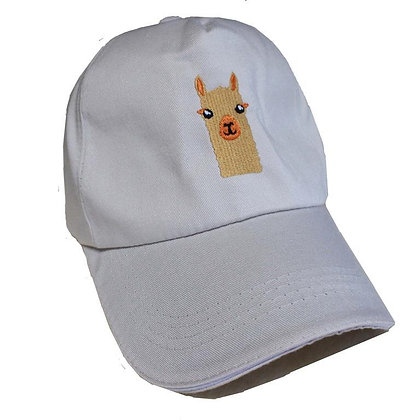 Alpaca Watching Embroidered Cap