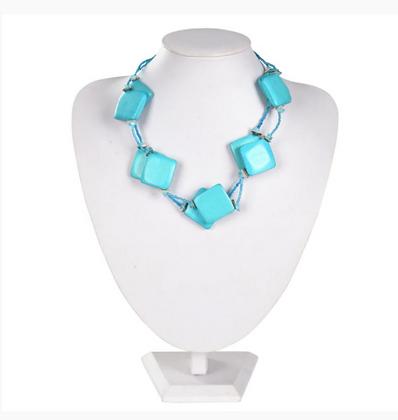 Blue Squares Necklace