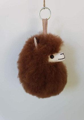 Alpaca Puff Keychain