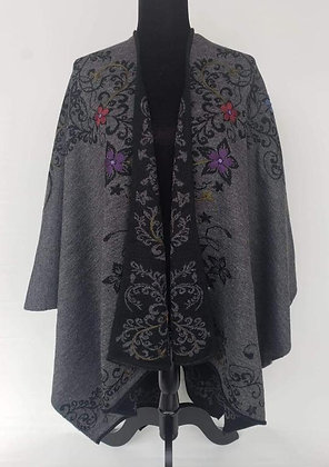 Reversible Embroidered Ruana