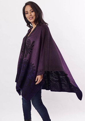 Hand Dyed Ombre Alpaca Cape