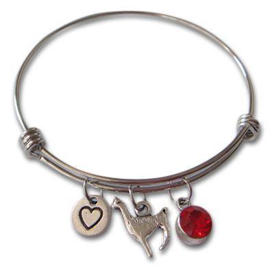 Alpaca Charm Bangle Bracelet