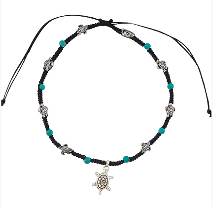 Turtle & Turquoise Anklet