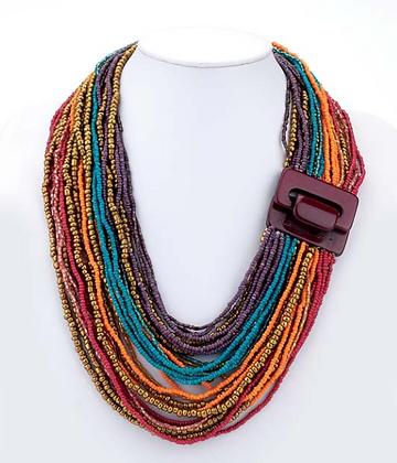 Multi Strand Buckle Necklace