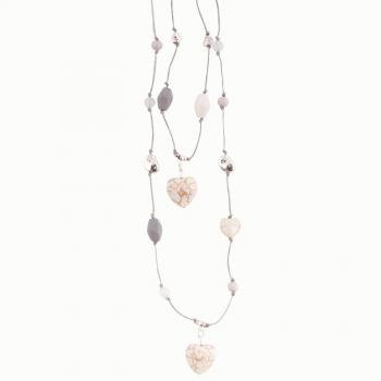 Double Strand Hearts Necklace