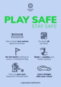 Play safe keeping social distancing