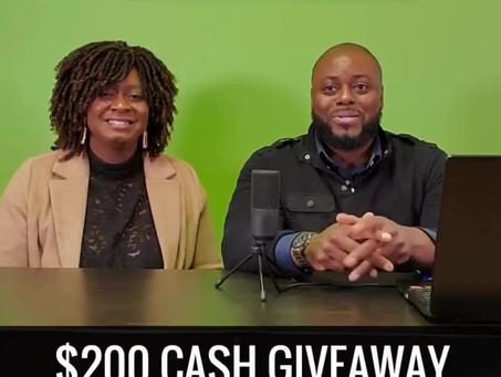 $200 Cash Giveaway!
