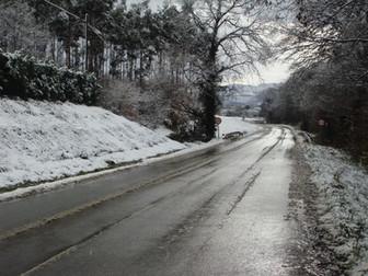 carretera de acceso a la casa