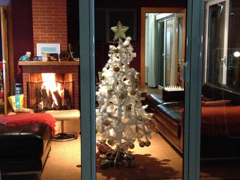 Salón en Navidad