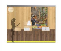 Habillage mural Restaurant