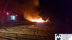 IAF Chopper on Fire-All Saved