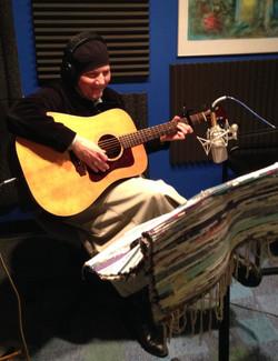 Shalomis recording in studio
