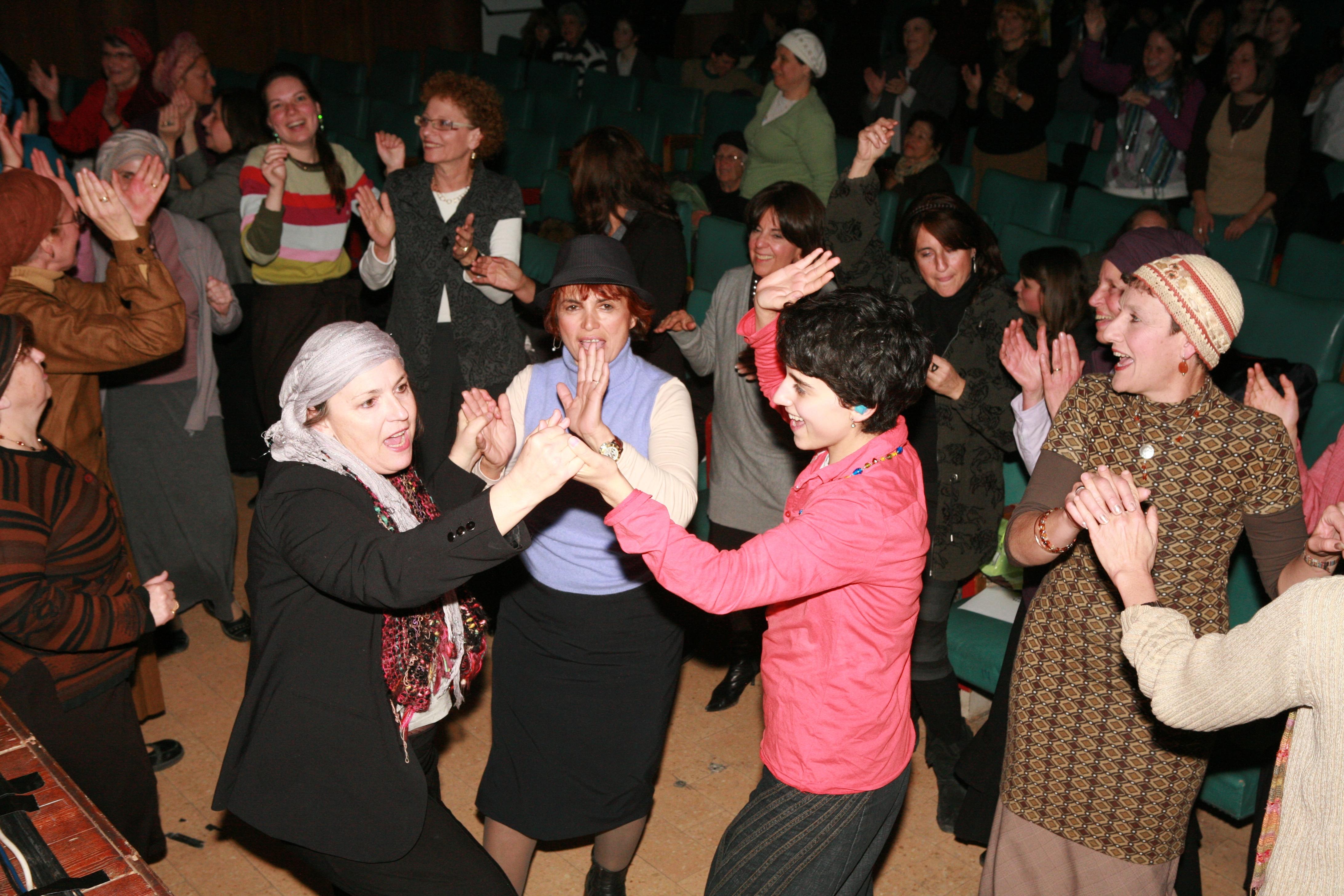Dancing at Jerusalem concert