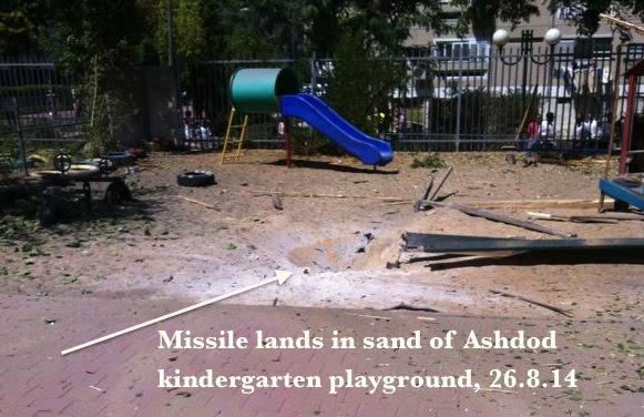 Missile lands in kindergarden sand