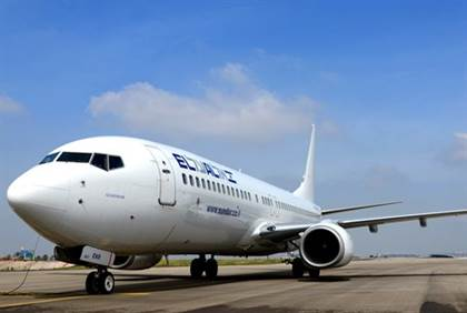 El Al plane lands with one engine