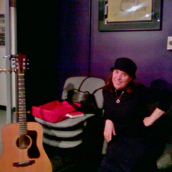 Stephanie in studio
