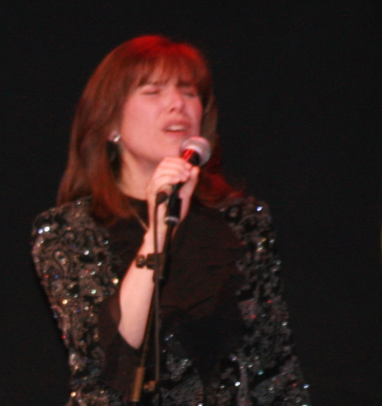 Stephanie onstage in Jerusalem