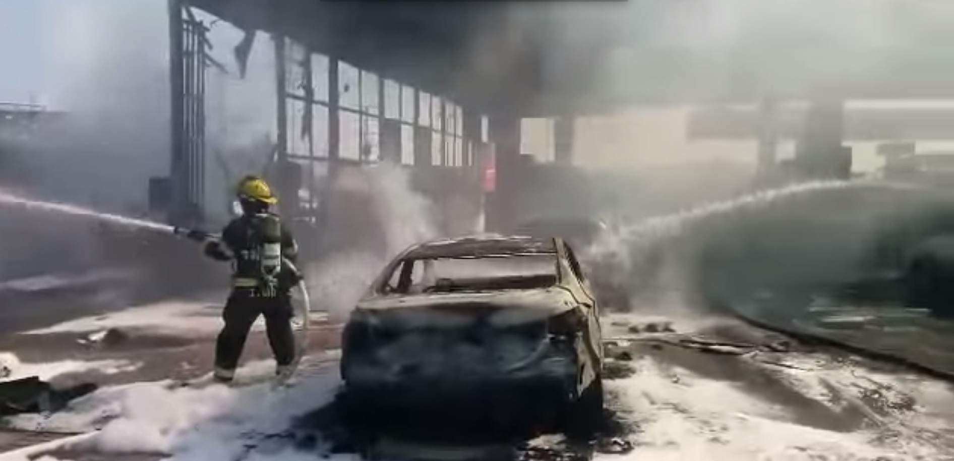 Rocket hits gas station-0 casualties